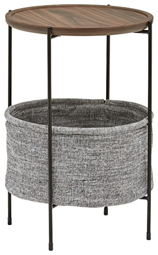 Rivet Meeks Round Storage Basket Side Table