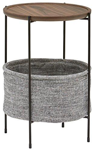 Rivet Meeks Round Storage Basket Side Table