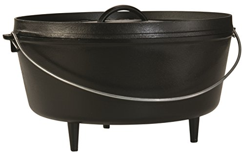 Lodge Deep Camp Dutch Oven, 10 Qt ,Black