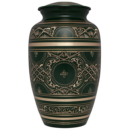 Liliane Memorials Green Funeral Decorative Urns, Large