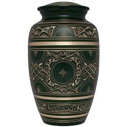 Liliane Memorials Green Funeral Decorative Urns, Large