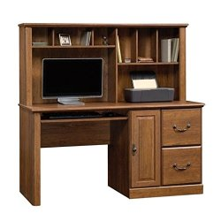 Sauder Computer Hutch Desk, Milled Cherry