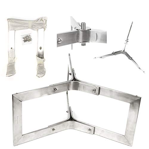 """Base304: 30"""" diam 3pc Stainless Contempo Fire Table Base"""