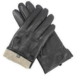 Men's Premium Sheepskin Cashmere Lined Leather Gloves