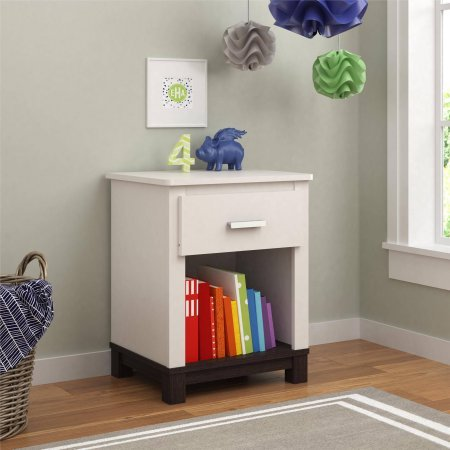 Cosco Products Leni Night Stand, White