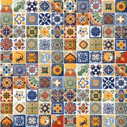 "100 Hand Painted Talavera Mexican Tiles 4""x4"" Spanish Influence"