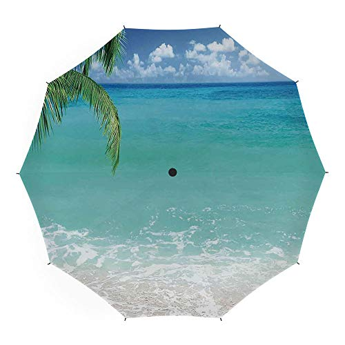 Travel Umbrella,Ocean Decor,Auto Open Close Umbrella 45 Inch