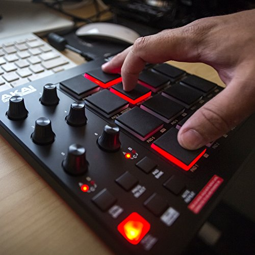Akai Professional | MIDI Drum Pad Controller Akai Professional MPD218 | MIDI Drum Pad Controller with Software Download Package (16 pads / 6 knobs / 6 buttons).