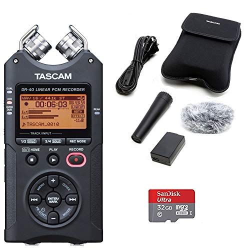 TASCAM DR-40 Digital Recorder with Accessory Kit