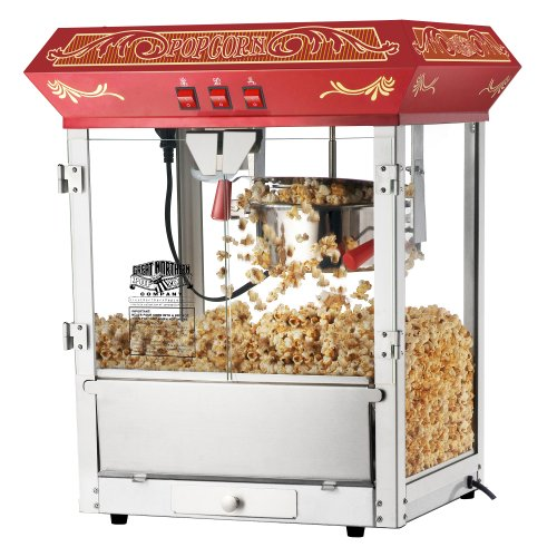 Great Northern Popcorn Red Old Time Popcorn Popper Machine