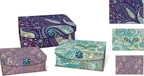 Punch Studio Nesting Trinket Boxes, Jewel Tones