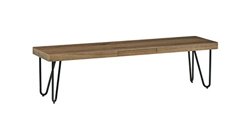 """Rivet Hairpin Wood and Metal Short 15.7"""" Console Table"""