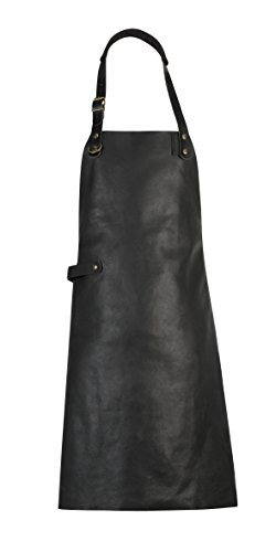Cuisipro Combekk Leather Apron, One Size, Black