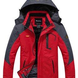 Wantdo Men's Waterproof Mountain Jacket Fleece
