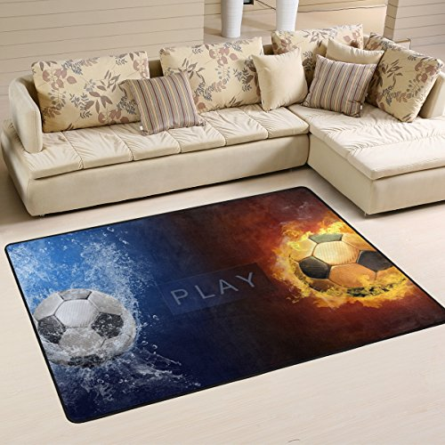 XiangHeFu Area Rugs Doormats Water Fire Flames