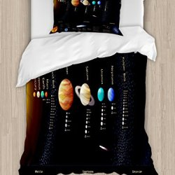 Ambesonne Outer Space Duvet Cover Set Twin Size