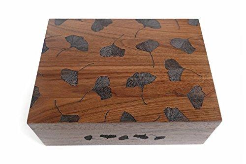 Ginkgo Leaves Laser Cut Wood Keepsake Box