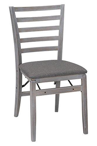 COSCO Contoured Back Wood Folding Chair