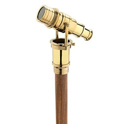 Design Toscano Lord Nelson Brass Telescope Solid Hardwood