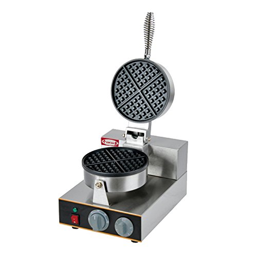 Commercial Waffle Maker, Stainless Steel, Non-stick Plate