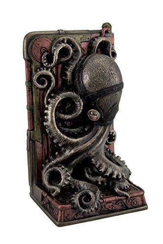 Resin Decorative Bookends Steampunk Octopus Bronze