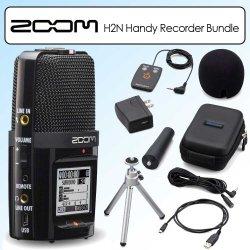 Zoom H2n Handy Handheld Digital Multitrack Recorder Bundle