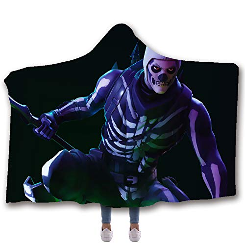 Allan J Beasle Super Soft Hooded Blanket, Skull Trooper