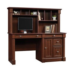 Sauder Palladia Computer Desk and Hutch
