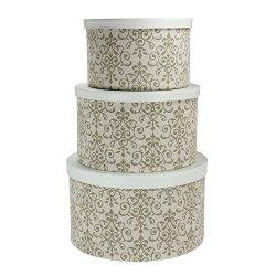 Household Essentials 3-Piece Hat Box Set