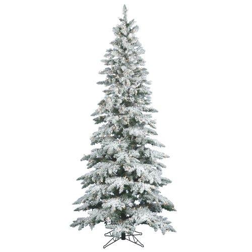 Vickerman 9' Flocked Slim Utica Fir Artificial Christmas Tree