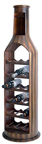 Vintiquewise 10 Bottle Decorative Holder Wooden