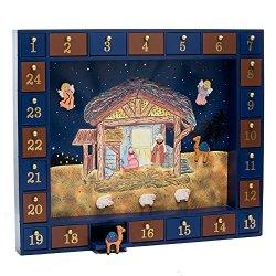 Kurt Adler Wooden Nativity Advent Calendar