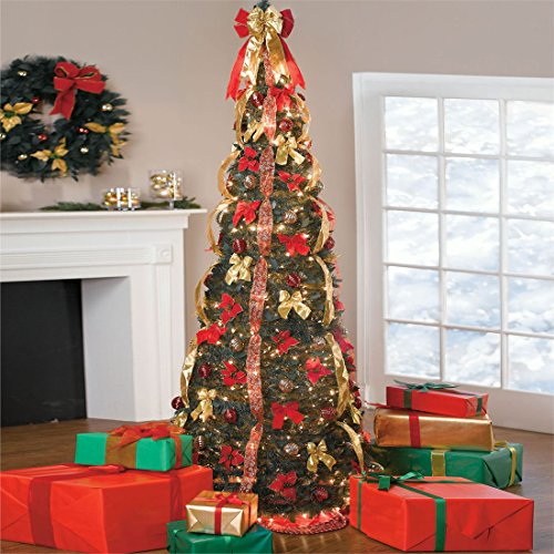 BrylaneHome 71/2' Deluxe Pop-Up Christmas Tree