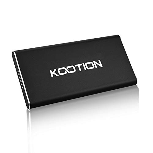 KOOTION Portable SSD 120GB External USB 3.0 Solid State Drive, Black