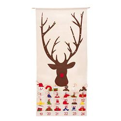 Good Ruby Advent Calendar for Kids, Large Hanging Christmas
