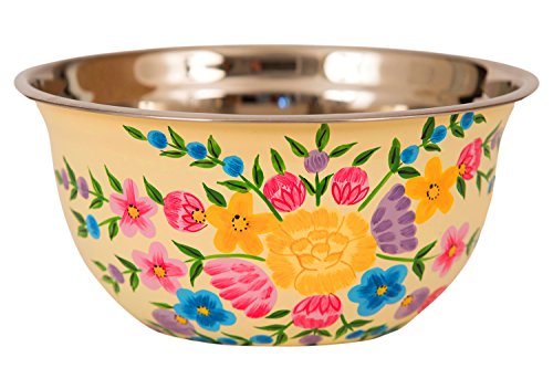 Hand Painted Stainless Steel Bowl – Large Salad Bowl
