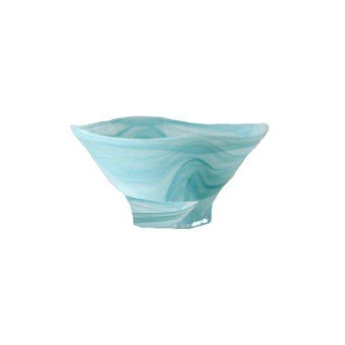 Shiraleah Large Turquoise Polished Alabaster Squared Bowl