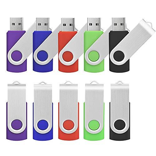 Kootion 16GB USB Flash Drive 10 Pack Flash Drives