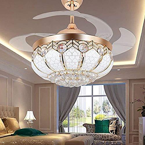 TiptonLight Modern Crystal Chandelier Ceiling Fan Lamp