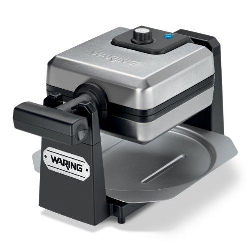 Waring Pro 4-Slice Belgian Waffle Maker, Stainless Steel/Black