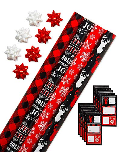 American Greetings Christmas Wrapping Paper Set