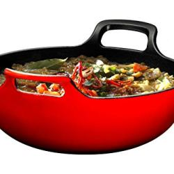 Enameled Cast Iron Balti Dish With Wide Loop Handles