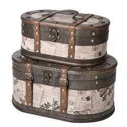 SLPR Alyssa Wooden Train Case | Decorative Storage