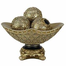 D'Lusso Designs Allurra Collection Four Piece Bowl