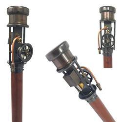 Brass Nautical Steam Engine Walking Stick Men/Women