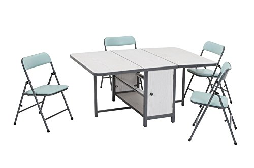 COSCO Kids 5pc Fold-n-Store Set, 4 Chairs, 1 Table