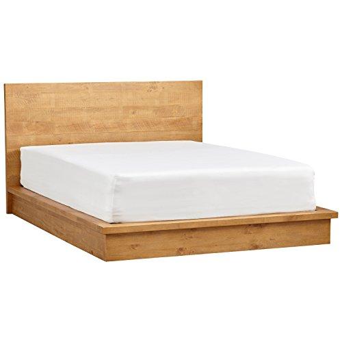 """Rivet Eastport Industrial Bed, 86.4""""W, Oak Finish"""