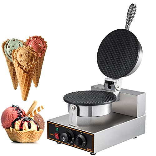 Happybuy 110V Electric Ice Cream Cone, Egg Roll Waffle Maker