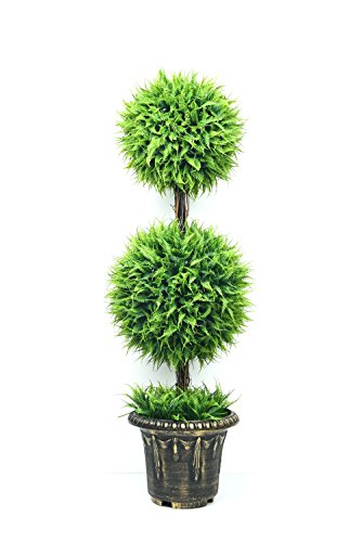 Artificial Topiary Ball Trees – 35.4 inch Double Ball