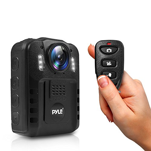 Pyle Premium Portable Body Camera - Wireless Wearable Camera